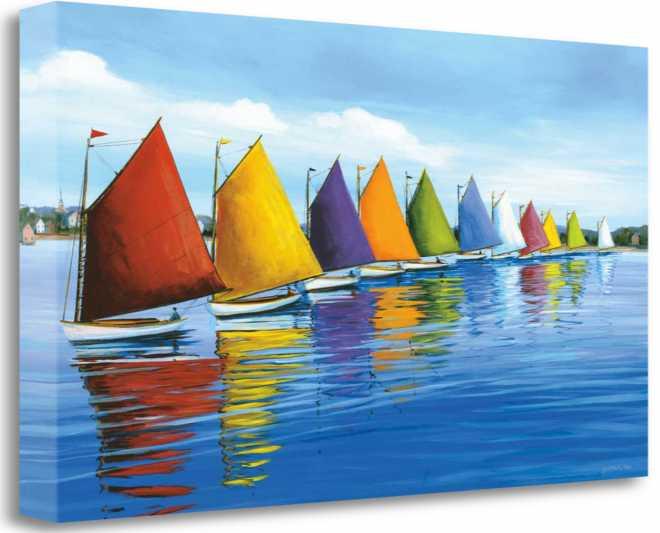 Rainbow Cats, Gallery Wrap Canvas, 26x21, SP0037