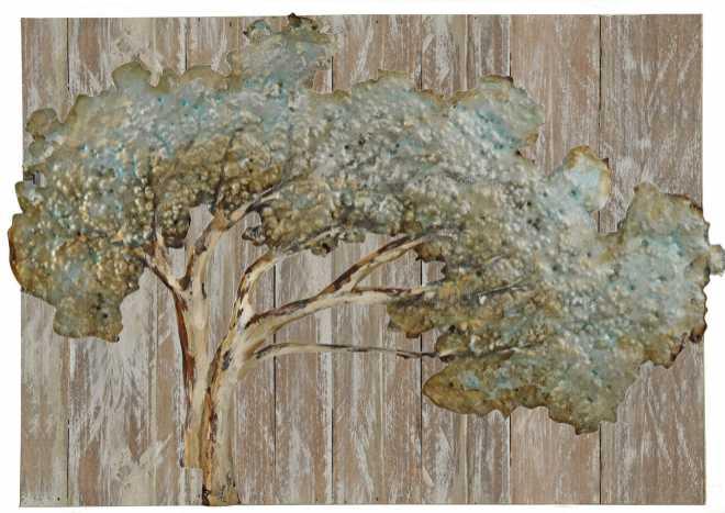 Reach for the Sun, Metal Art on Wood, 34x24x2
