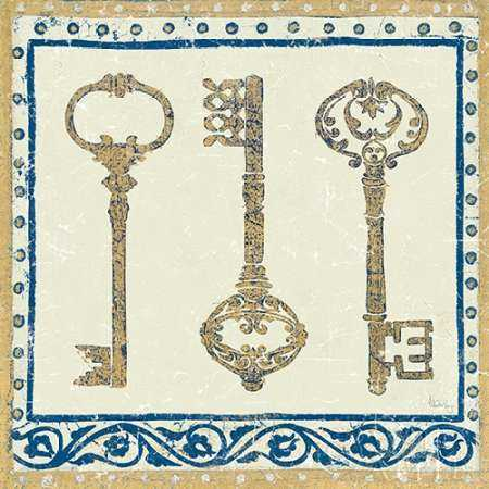 Regal Keys Indigo and Cream