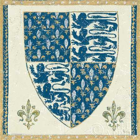 Regal Shield Indigo and Cream