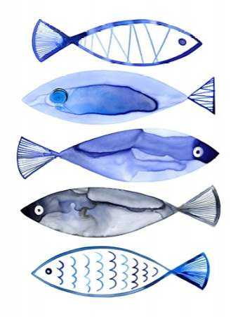 Retro Watercolour Fish
