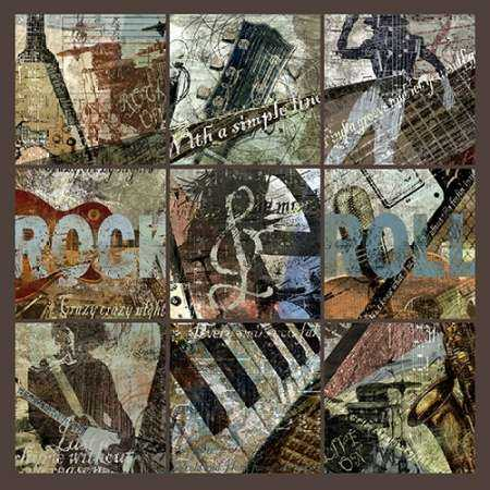 ROCK and ROLL 9-PATCH- with grid
