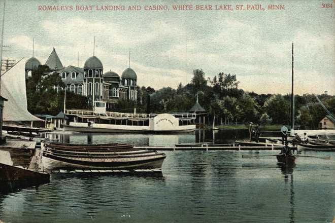 Romaley's Boat Landing and Casino-White Bear Lake, MN, 1900