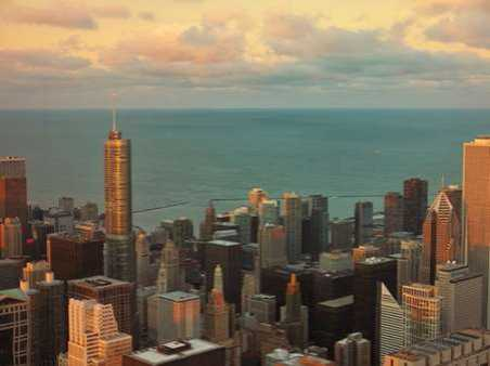 Sunset in Chicago