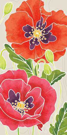 Sunshine Poppies Panel I