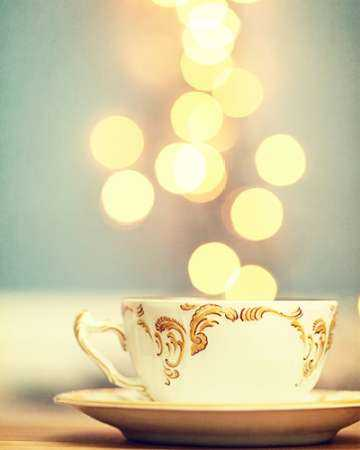 Tea Cup in Cold Bokeh