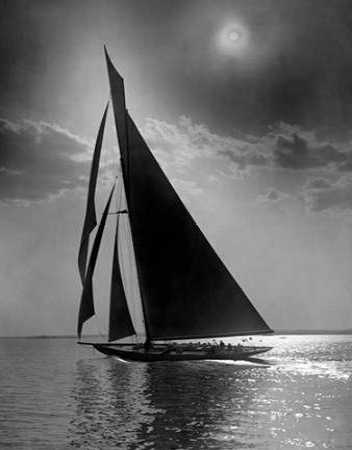 The Vanitie during the Americas Cup ca. 1900-1910