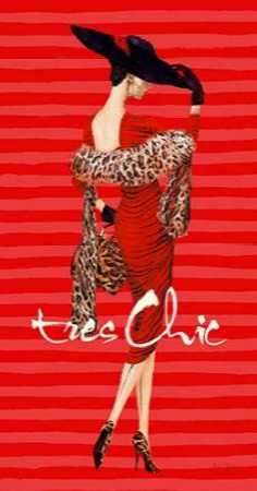 Tres Chic Fashion Illustration In Red
