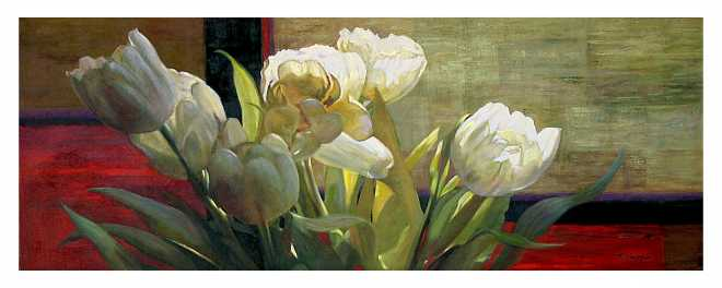 Tulips with Red