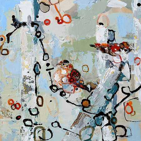 Two Red Sparrows