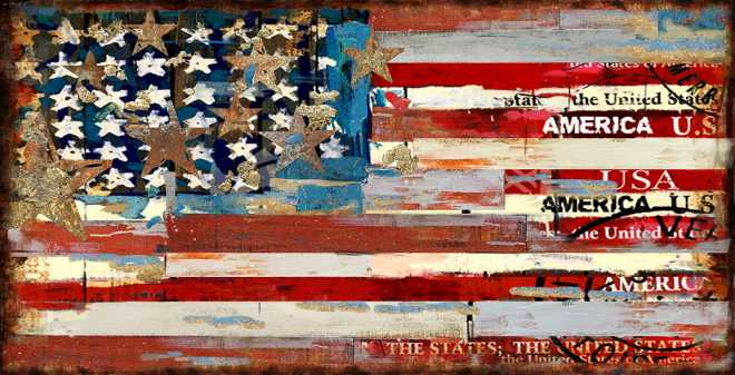 United We Stand - Distressed American Flag