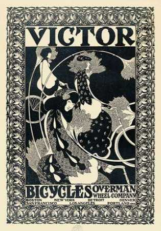 Victor Bicycles - vertical - monochrome