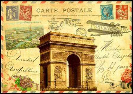 Vintage Paris Postcard Arc de Triomphe