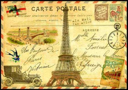 Vintage Paris Postcard Eiffel Tower