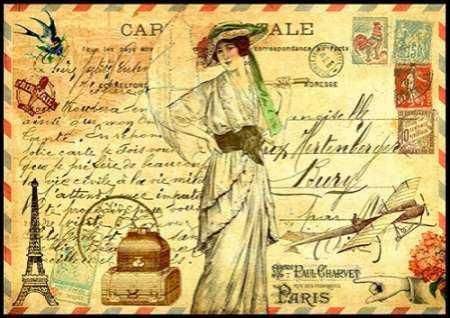 Vintage Paris Postcard Mademoiselle