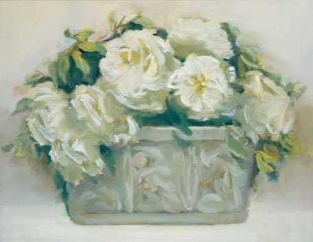 White Roses in Planter