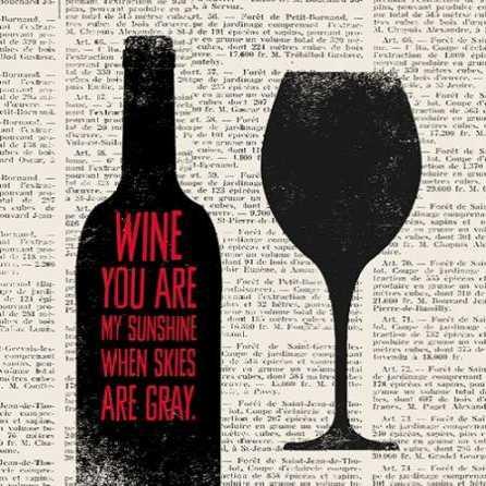 Wine Lino Print 2