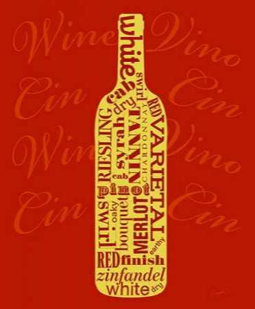 Wine Words Bottle