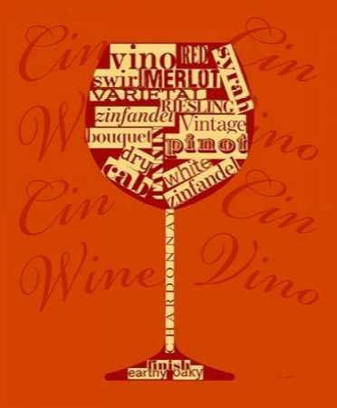 Wine Words Glass
