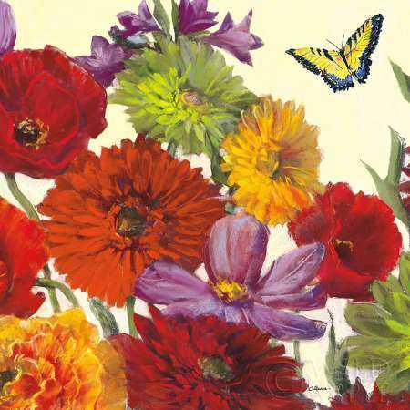 Butterfly Flower Scatter Crop II