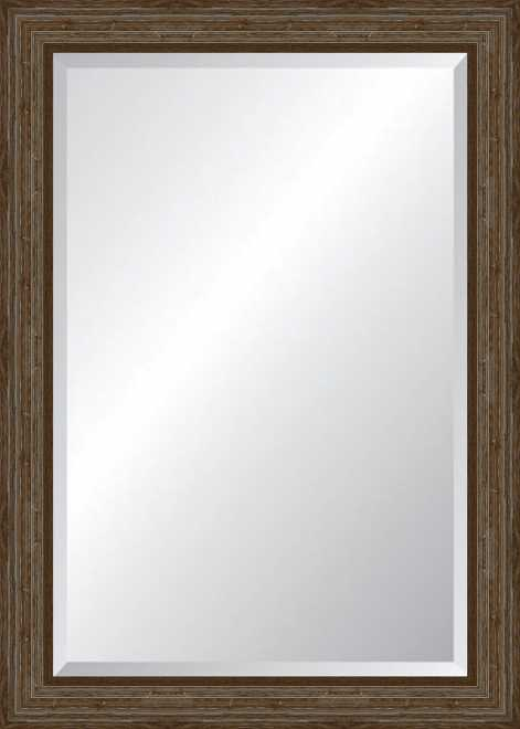 Mirror 30x42 in distressed driftwood frame design